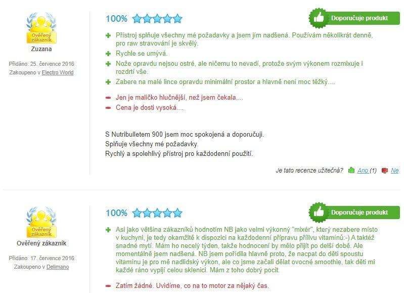 Reálne skúsenosti zákazníkov s mixérom Delimano Nutribullet 900 W