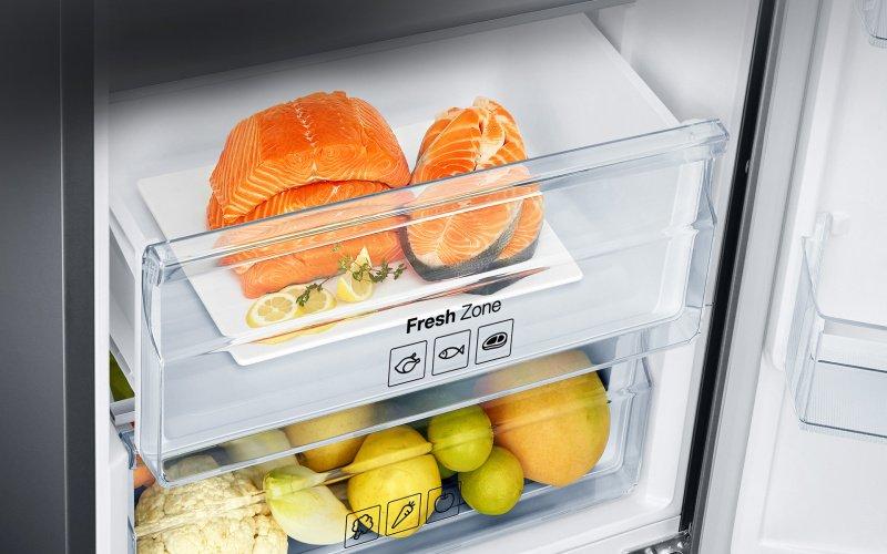 Ryby v špeciálnej priehradke v chladničke