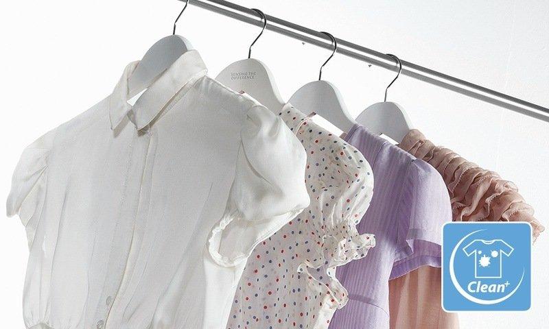 Funkce Clean + při praní