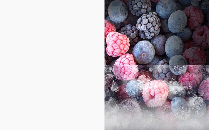 Zmrazené maliny, černice a čučoriedky