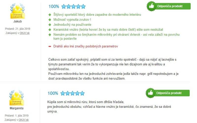 Recenzie zákazníkov na mikrovlnku Samsung F300G MS23F301TAS
