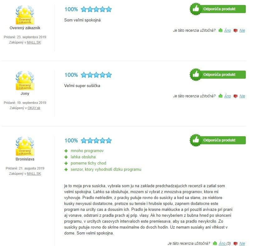 Recenzie zákazníkov na sušičku Beko DPY 8506 GXB1