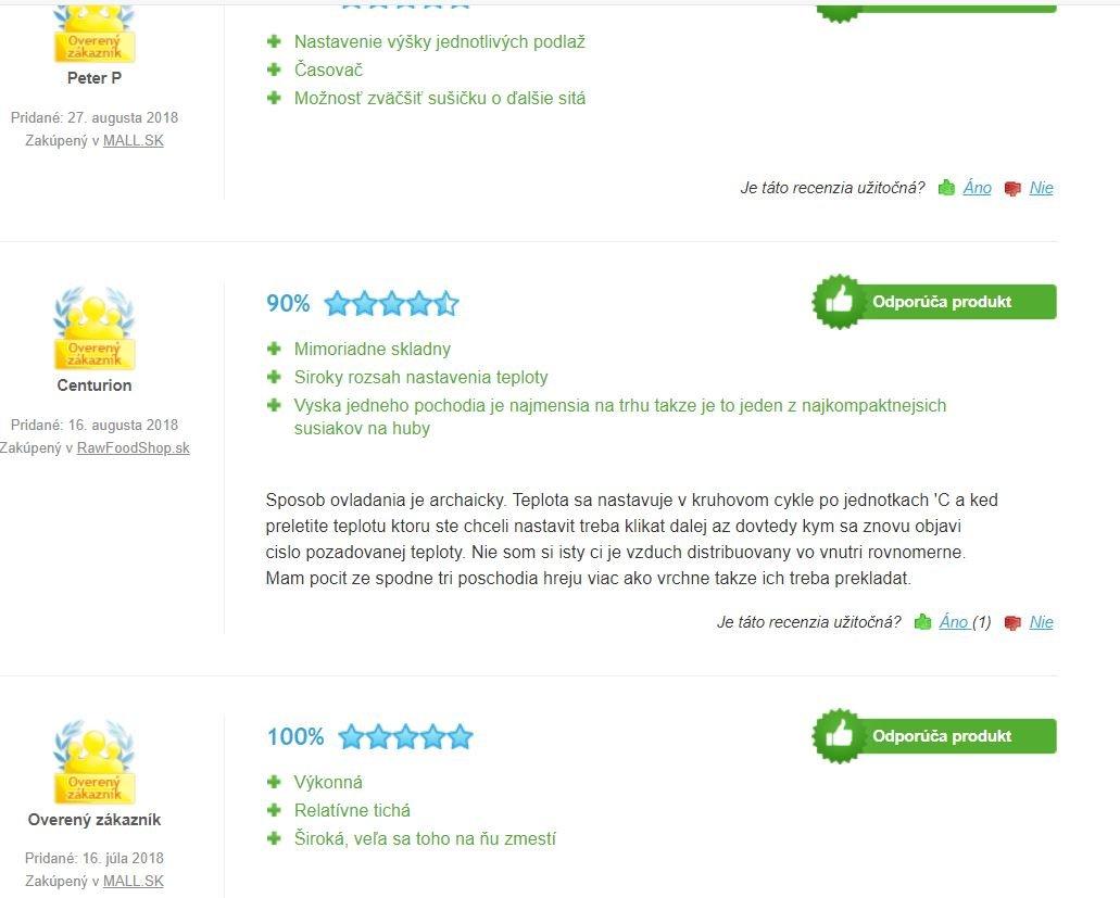 G21 paradiso big sušička ovocia - skúsenosti zákazníkov