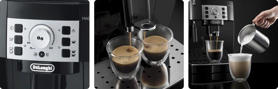príprava kávy pomocou kávovaru DeLongi ECAM22.110B