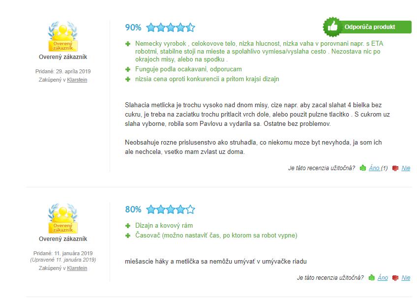 kuchynský robot klarstein curve - recenzie zákazníkov