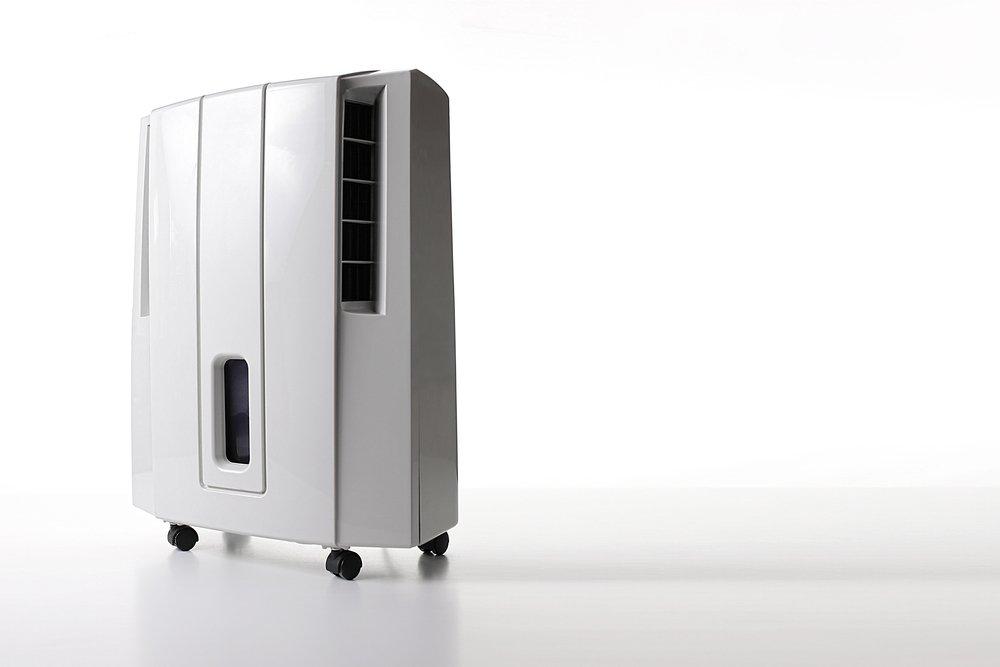 izbyový mobilný odvlhčovač vzduchu na kolieskach