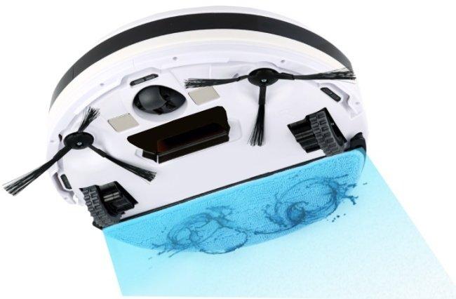Suchá aj mokré vysávanie robotického vysávača