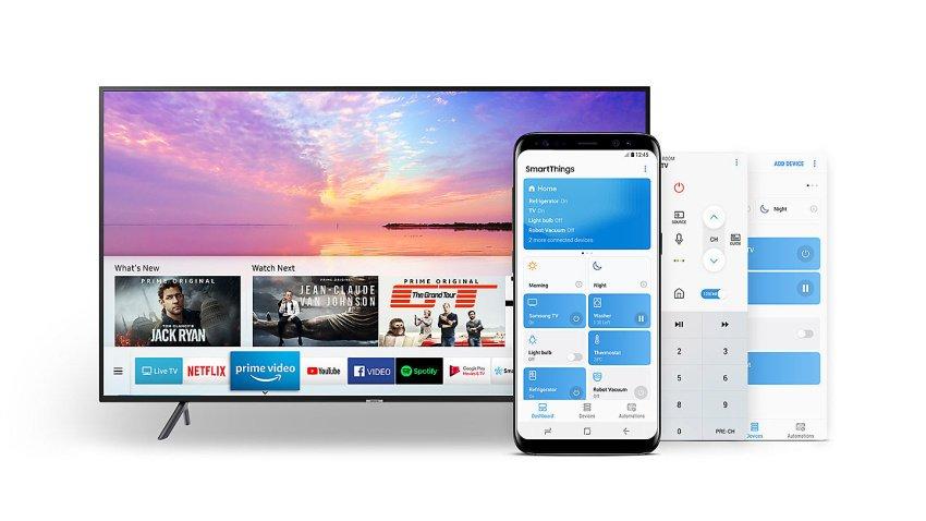 Aplikácia SmartThings televízora Samsung UE65NU7172
