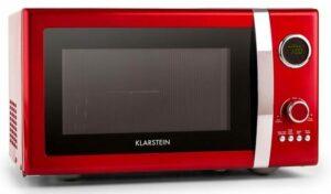 Fine Dinesty, 1000 W, 23 l, 2 v 1 mikrovlnná rúra, retro, 12 programov, červená