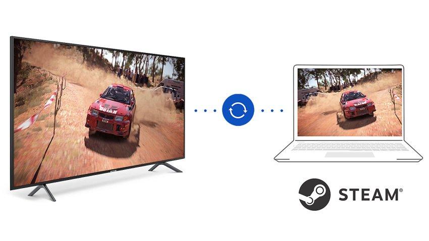 Funkcia Steam link pre dokonalé hranie hier na tv Samsung UE55NU7172.