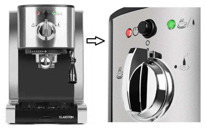 Tlačidlá na ovládanie kávovaru