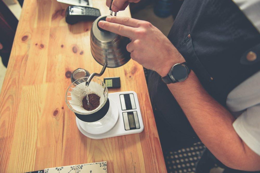 Váženie kávy