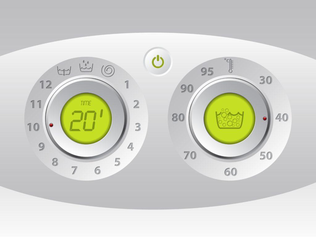 Ovládací panel automatickej práčky