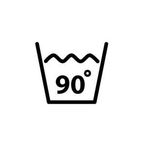 Na 90°C môžete prať napríklad utierky na riad