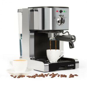 Passionata 20 kávovar na výrobu espressa, 20 bar, cappuccino, mliečna pena, strieborná farba