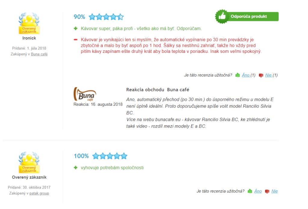 Rancilio Silvia E - užívateľské recenzie na heuréke