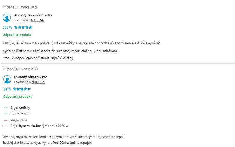 Recenzie zákazníkov na parný čistič Kärcher SC 3 EasyFix