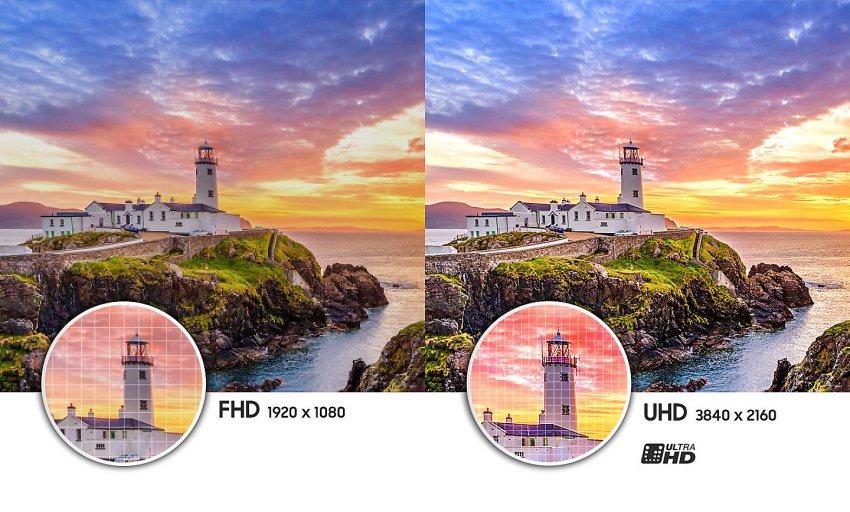 Vysokokvalitné rozlíšenie obrazovky televízora Samsung UE65NU7172