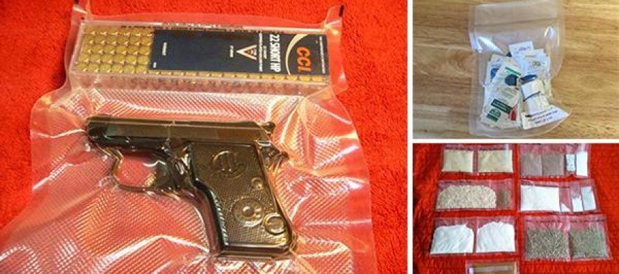 Zbraň vákuovaná vo fólii