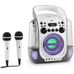 Auna Kara Liquida karaoke systém CD USB MP3 fontána LED 2 x mikrofón prenosný