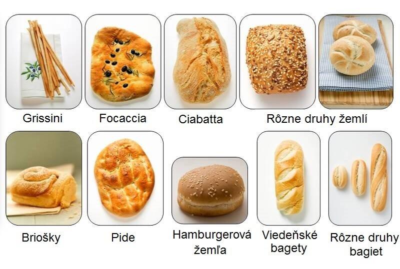 Rôzne druhy pečiva