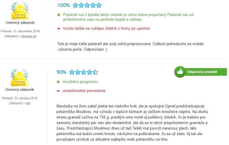 Skúsenosti užívateľov s pekárňou Tefal PF 611838