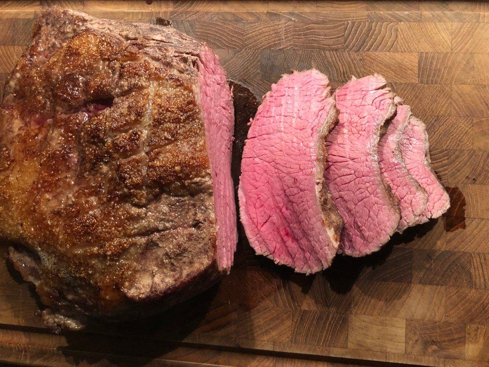 Rump steak po 7 hodinách pri 57 stupňoch v Sous Vide