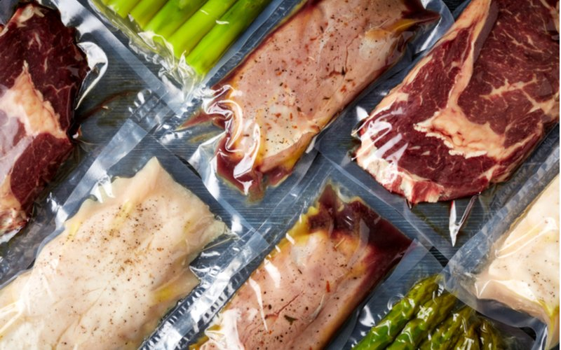 Vákuované potraviny, mäso, zelenina