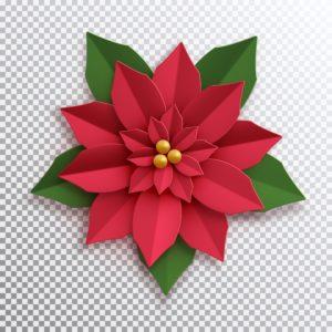 Vianočná ruža z papiera