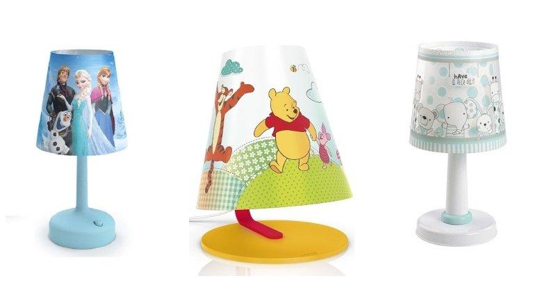 Detské lampy s tienidlami s rozprávkovými motívmi