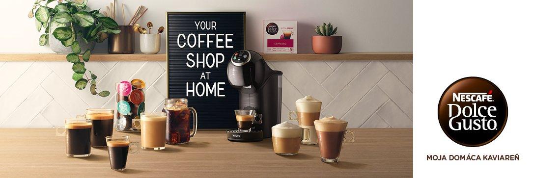 Kávovary Krups Dolce Gusto - kávovar a rôzne kávové nápoje