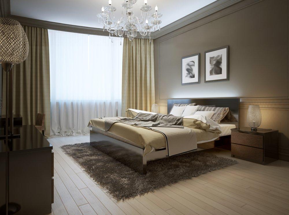 luster v spálni
