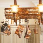 Dekoratívny luster v kuchyni
