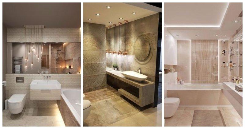 Atraktívne osvetlené kúpeľne