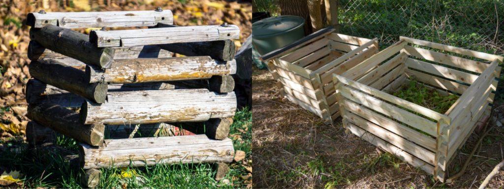 Drevené kompostéry