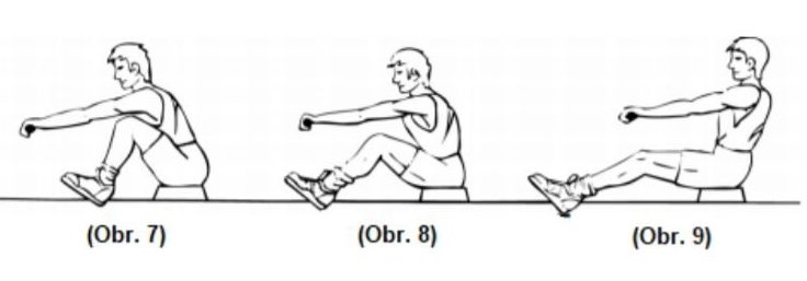 Cvičenie na nohy na veslovacom trenažéri