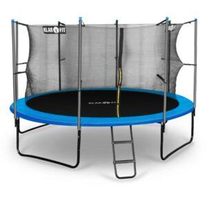 Rocketboy 366, 366 cm trampolína, vnútorná bezpečnostná sieť, široký rebrík, modrá
