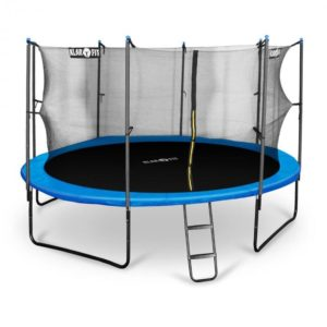 Rocketboy 430, 430 cm trampolína, vnútorná bezpečnostná sieť, široký rebrík, modrá