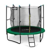 Rocketstart 250, 250 cm trampolína, vnútorná bezpečnostná sieť, široký rebrík, zelená
