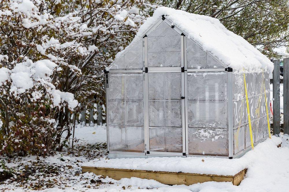 Skleník pod snehom