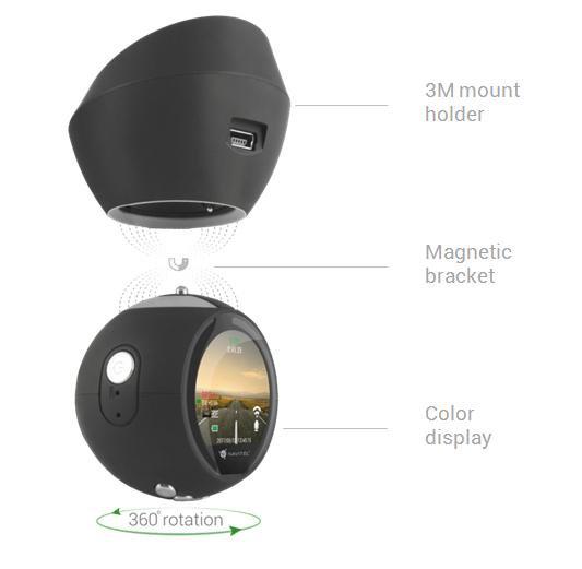 Jedinečný dizajn autokamery Navitel R1000