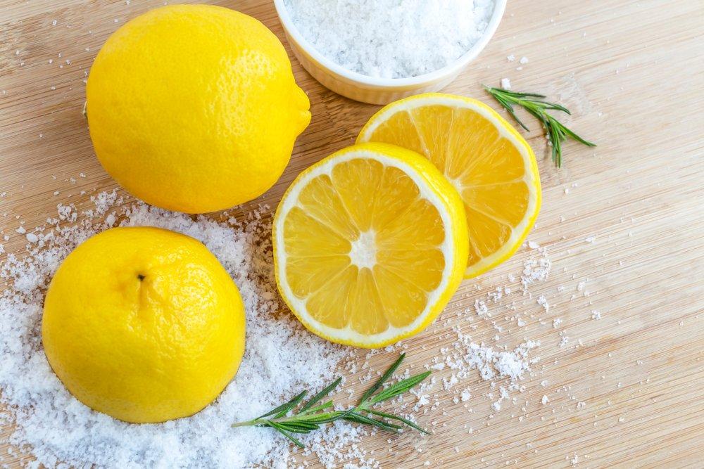 Soľ a citrón ako čističe