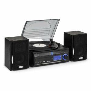 Stereo zariadenie Auna DS-2, gramofón, MP3 záznam