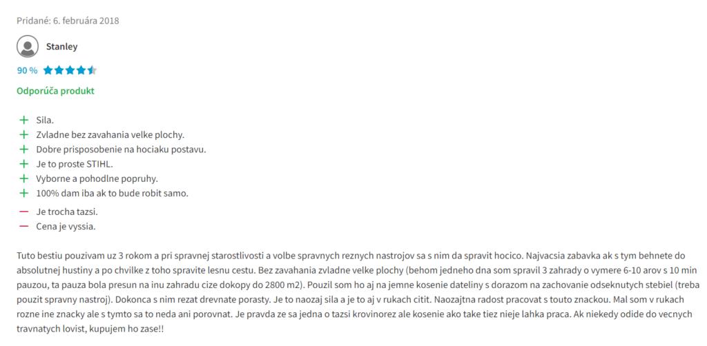 Stihl FS 240 - recenzia