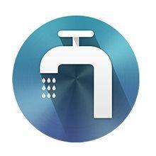 Vodovodný kohútik-znak tečúcej vody