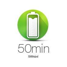 Vádrž batérie zastrihávača je 50 minút