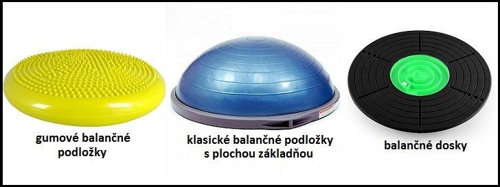 Gumové balančné podložky, klasické podložky s plochou základňou, balančné dosky.