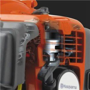 Oranžový motor krovinorezu