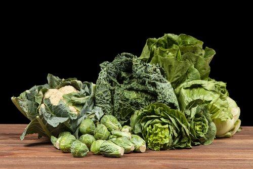 Rôzne druhy listovej zeleniny
