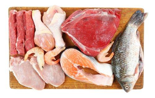 Mäso, ryby, morské plody v surovom stave
